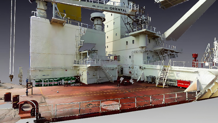 3D Laser Scan of Vessel Deck