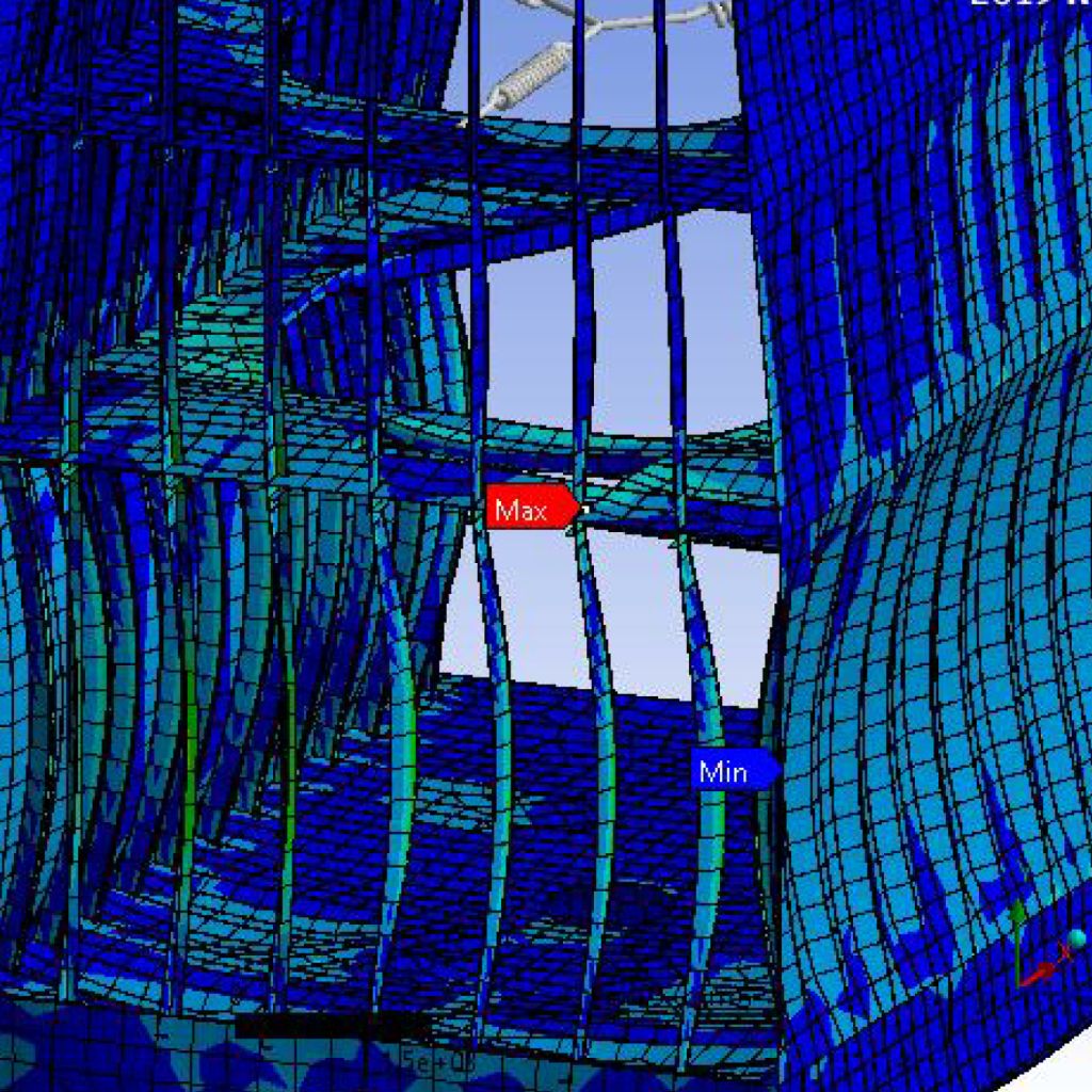 A 3D Model of an EGCS retrofit that includes structural analysis and FEA.